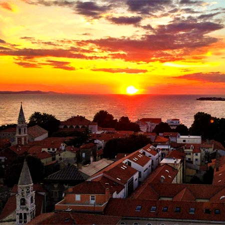 Croatia Zadar Sunset