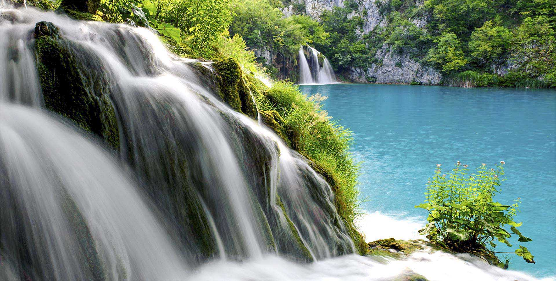 Croatia National Park Plitvice Lakes Waterfall