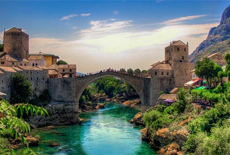 Bosnia And Herzegovina Mostar Old Bridge