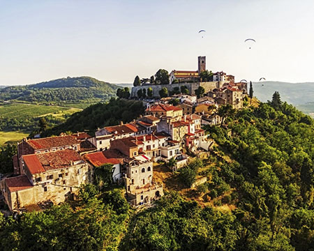 Croatia Istrioa Motovun From Air