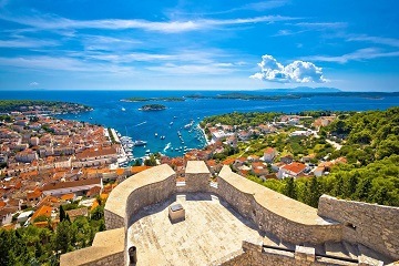 Hvar Old Town And Pakleni Islands From Fortica Fortress