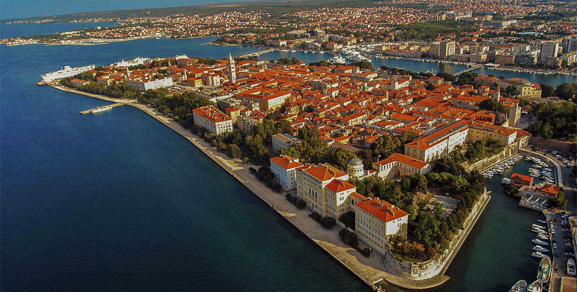 Croatia Zadar Old Town From Air